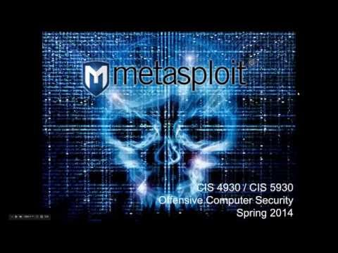 Offensive Computer Security 2014 - Lecture 22 (Metasploit)