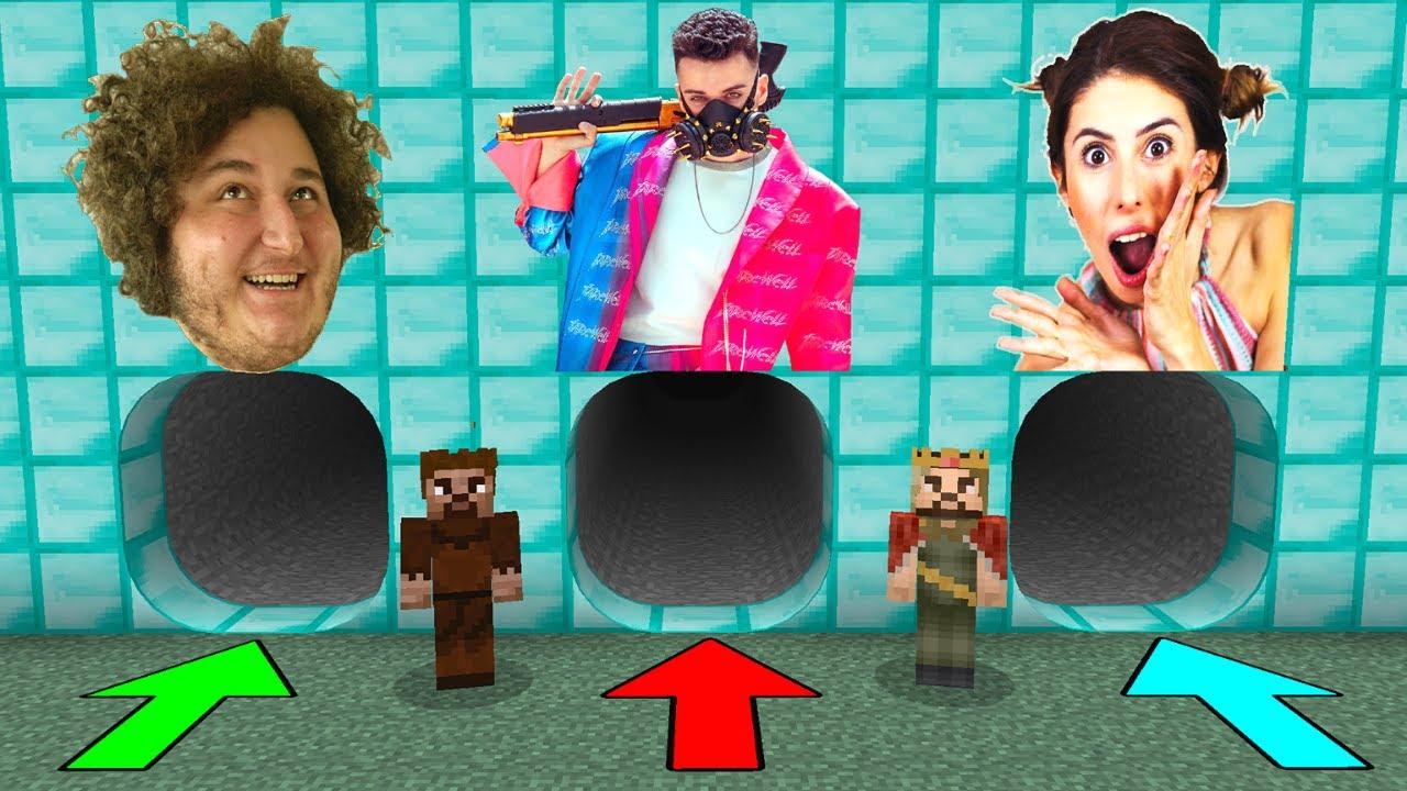 YANLIŞ YOUTUBER MAĞARASINI SEÇERSEN ÖLÜRSÜN #8 😱 - Minecraft