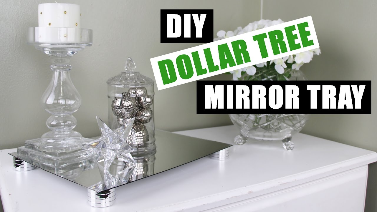 Diy Dollar Tree Glam Mirror Riser Tray Z Gallerie
