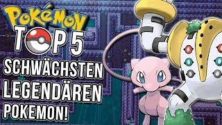 Top 5 schwache legendäre Pokemon!