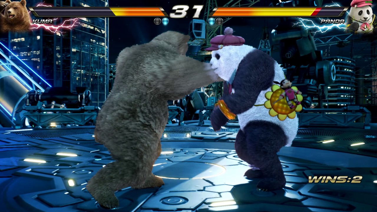 Tekken 7 Kuma Vs Panda Gameplay Youtube