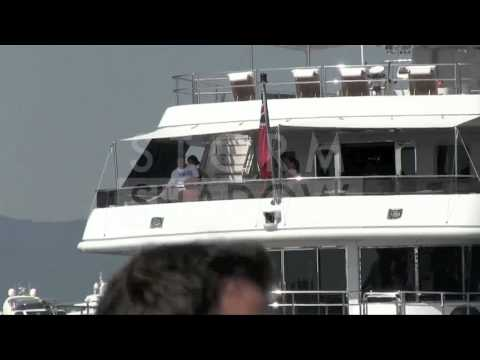 Stallone family in Saint Tropez onboard of their Yacht