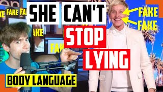 How Ellen DeGeneres Tried To Fool You That She's Not A Monster Celebrity Liar - Body Language