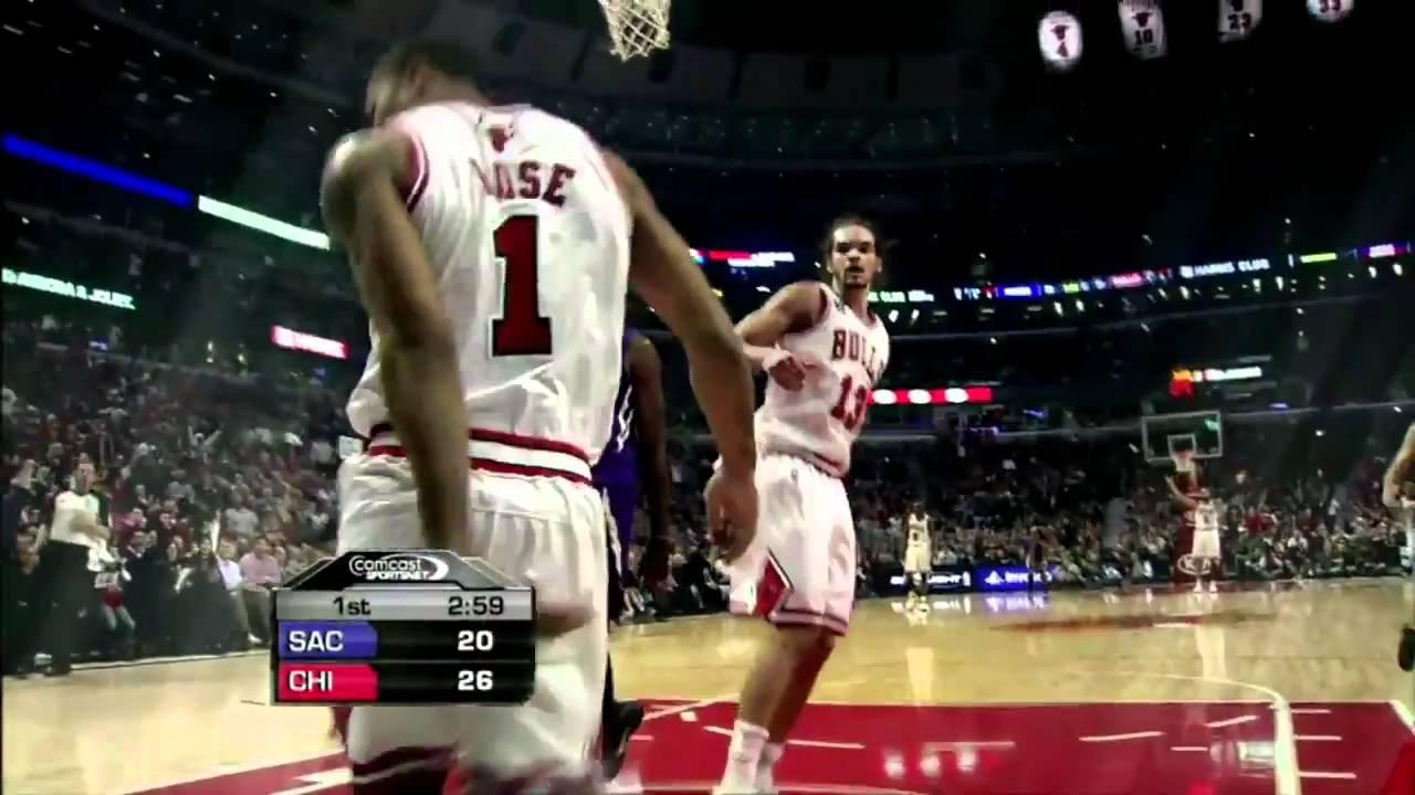 a2cb381c5a1 Derrick Rose Reverse Dunk V Sacramento Kings 3 21 2011 - YouTube