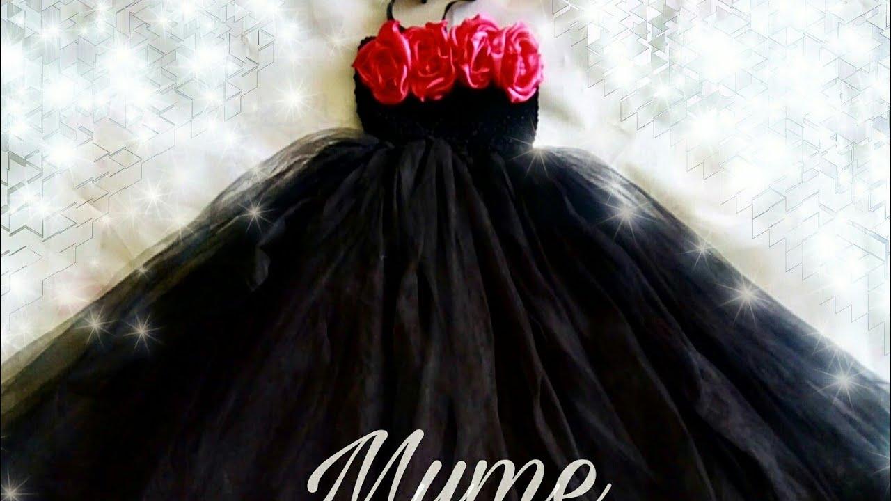 fe67625a1a Como hacer un Tutu Dress de catrina  disfraz de catrina para niña ...