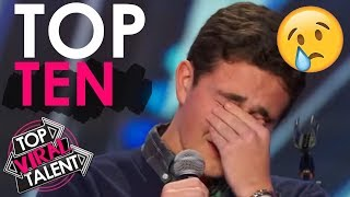 "Top 10 ""WOMAN STARTS TO CRY"" EMOTIONAL MOMENTS On America's Got Talent!"