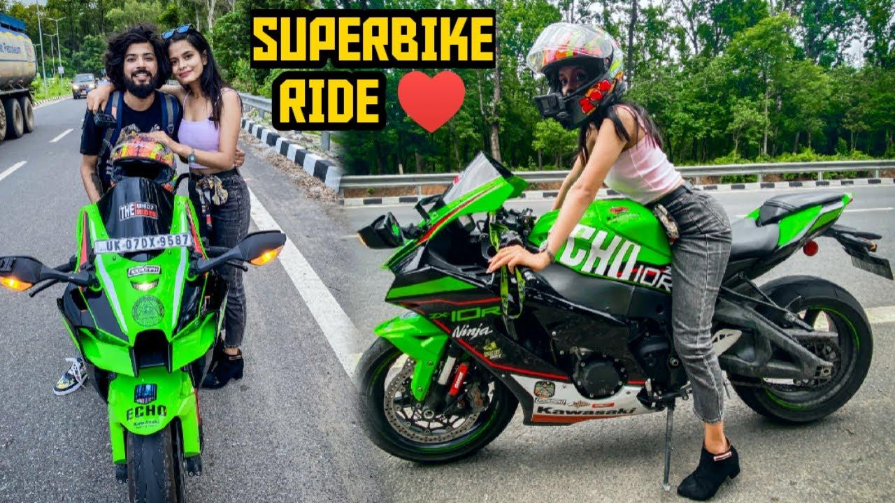Savya Ne Hamari Superbike Echo Ko Ride Kar Hi Liya 😃