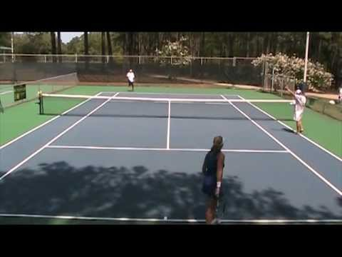 TreDay vs. Paula Juels Jones in a tennis tie-break
