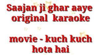 Gambar cover Saajan ji ghar aaye kumar sanu , alka yagnik free original karaoke track