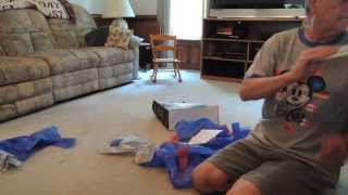 Dachshund Goes Crazy Opening Dad's Birthday Presents