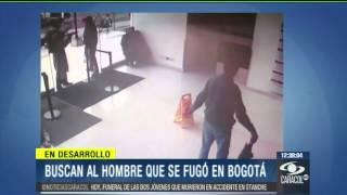 A sangre y fuego, impresionante video de fuga de preso en Bogotá