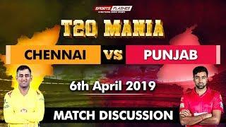 Chennai vs Punjab T20 | Live Scores and Analysis | SportsFlashes