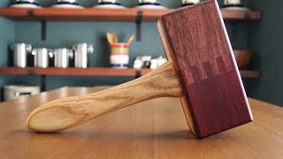 Make a Dead Blow Mallet with Finger Joints