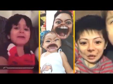 niños se asustan con filtros snapchat