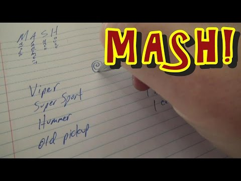 MASH - The Pen & Paper Future Prediction Game!