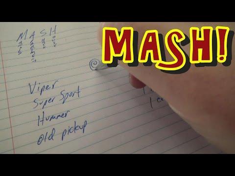 MASH - The Pen & Paper Future Prediction Game!