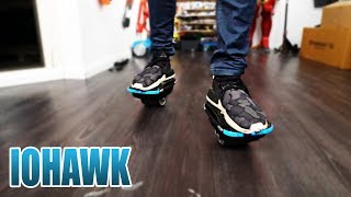 DIE NEUEN HOVERBOARD SCHUHE   IOHAWK NXT SKATES SHOES Review - Unboxing [Deutsch/German]