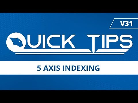 5 Axis Indexing [Part File Included] - BobCAD-CAM Quick Tips: V31