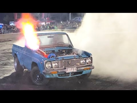 Listen to This Flame-Shooting Mazda Rotary Pickup Do a Spectacular Burnout