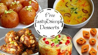 Five Simple and tasty  Dessert Recipes - Foodvedam