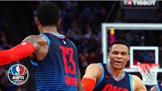Westbrook, Adams and George combine for 85 points in Thunder's win vs. Kings   NBA Highlights