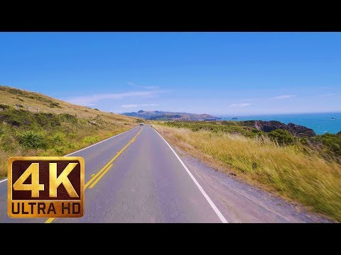 4K Scenic Drive - 4 HRS Relaxation Video with Music - King Ridge Road, California