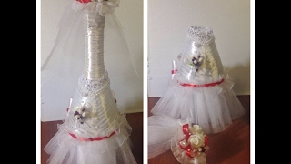 Свадебное шампанское НЕВЕСТА часть 2/ DIY Wedding Champagne Part 2