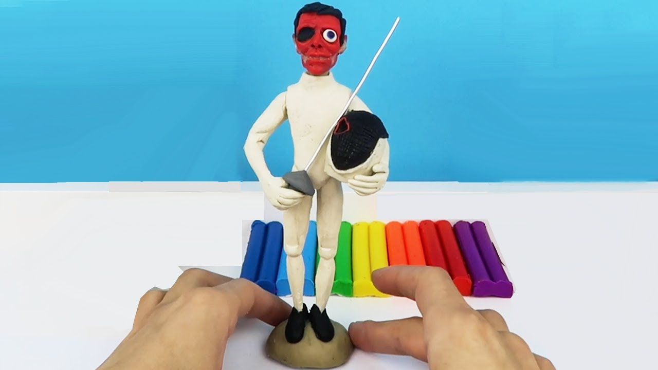 How To Make Realistic The Fencer made from polymer clay sculpture. Video Clay Tutorial #shorts