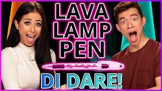 DIY LAVA LAMP PENS?! Di Dare w/ Motoki Maxted & Amber Scholl