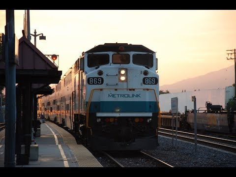 [HD] Railfanning at the El Monte Station [feat. NS 1074 and Nice sunset]