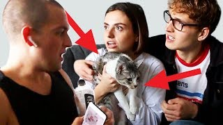 SURPRISING MY ROOMMATE WITH A CAT!