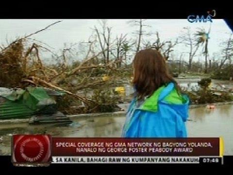 Special Coverage ng GMA Network ng bagyong Yolanda, nanalo ng George Foster Peabody Award