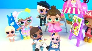 Куклы Лол Сюрприз Мультик! Художественная Школа и как сделать необычных Lol Surprise Family