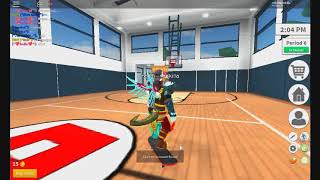 playing robloxin highschool roblox