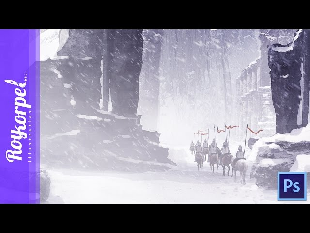 Winter is coming - Photoshop timelapse