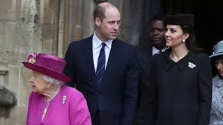 Pregnant Kate Middleton and Prince William Attend Easter Services With Queen Elizabeth