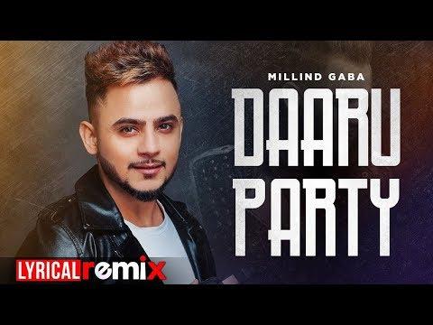 Daaru Party Remix  Lyrical  Millind Gaba  Latest Punjabi Songs 2019  Speed Records