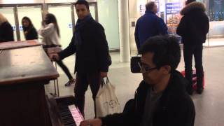"Lagu Indonesia di London St. Pancras International,  ""Untukku"" Adrian Music Bandung +62818210900"