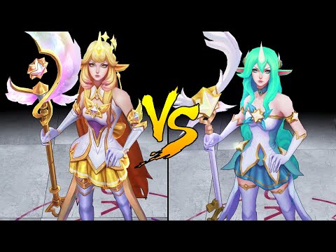 Prestige Star Guardian Soraka vs Star Guardian Soraka Skin Comparison Spotlight (League of Legends)