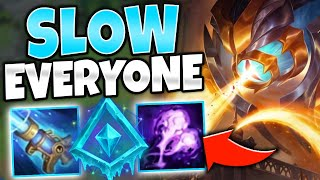 TAKING MY GLACIAL VEL'KOZ INTO A MASTER GAME! THEY CAN'T MOVE   League of Legends