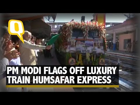PM Modi flags off Palace Queen Humsafar Express Train Between Mysuru and Udaipur | The Quint