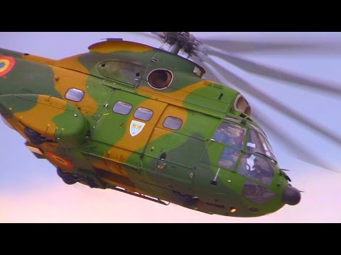 IAR 330 Puma Helicopter - Amazing Display Flight @ BIAS2015 - Romanian Air Force - Low Flying
