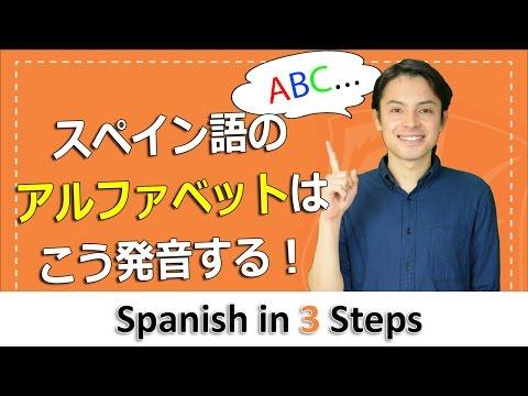 単語と覚えるスペイン語のアルファベットの発音、読み方   Spanish in 3 Steps A1 #1