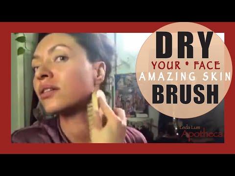 Leda Lum apothecary face dry brushing lymph drainage