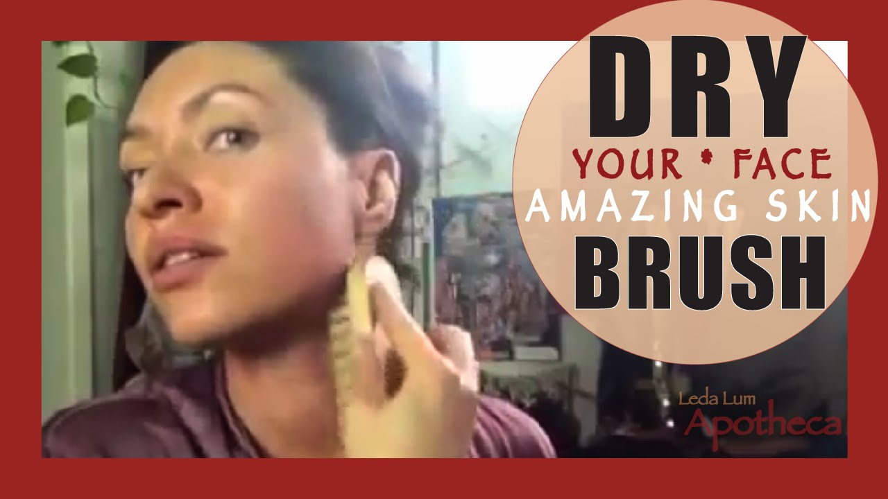 dry brushing face