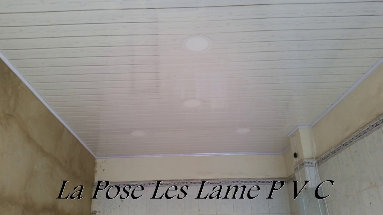 Plafond Pvc Faux Bois Gris Youtube