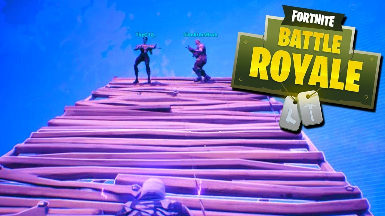 IT'S A LONG. WAY. DOWN. - Fortnite Battle Royale with The Crew!
