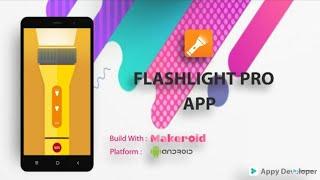 Premium Flashlight App Free AIA File | Auto Mode | SOS Feature | Makeroid | AIA | - Appy Developer