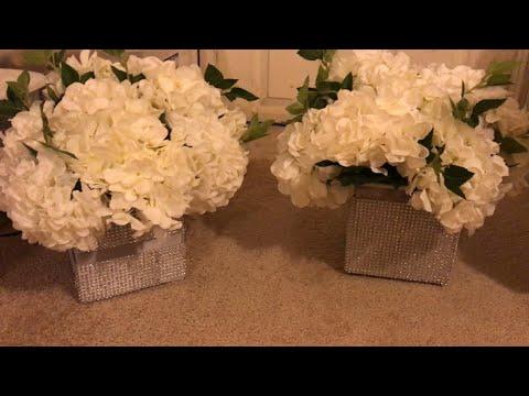 Diy Bling Vase Dollar Tree Bling Wedding Decor Youtube