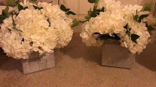 DIY bling vase  dollar tree  bling Wedding decor